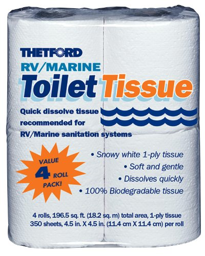 THETFORD CORP 4 Pack RV/Marine Toilet Tissue Sold in packs of 24