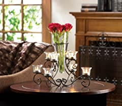 5 Lot LARGE VASE Black Iron Candle holder Candelabra Wedding Table Centerpieces