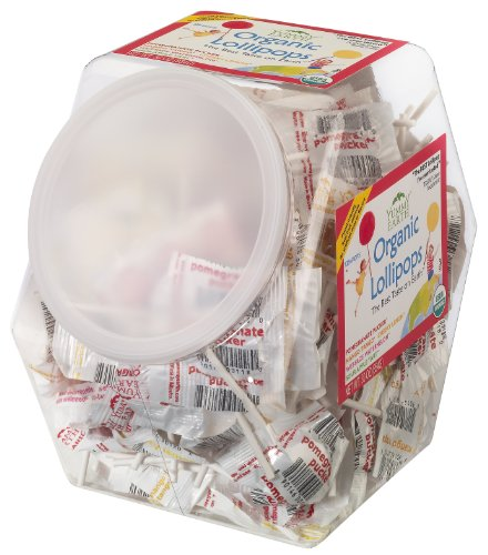 YummyEarth Organic Lollipops, Assorted Flavors, 30-Ounce Container