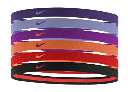 Nike Swoosh Sport Headbands 6pk (Court Purple/Washed Purple/Vivid Purple)