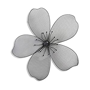 Decorative Modern Black Wire Mesh Flower Head Wall Art for Home or Office from Home33 Accessories