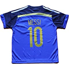 Buy 2014 ARGENTINA MESSI 10 AWAY FOOTBALL SOCCER KIDS JERSEY FREE GIFT INCLUDED by AFA