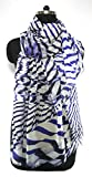 Anuze Fashions New Design Blue line & White Print Scarves For Women's And Girl's