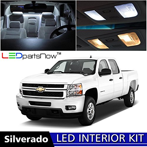 LEDpartsNow Chevy SILVERADO 2007-2013 Xenon White Premium LED Interior Lights Package Kit (12 Pieces) + Install Pry Tool (2012 Chevy Truck compare prices)