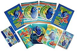 Finding Dory Ultimate Back to School Bundle - Folders(4), Notebooks(3), Journal and Pen plus Zippered Storage Case