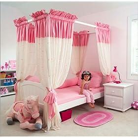 Maxtrix Kids Maxtrix Bedroom Series Full Princess Poster Canopy Bedroom Set