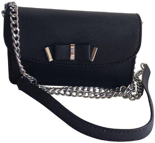 MICHAEL Michael KorsMichael Kors Kiera Genuine Leather Small Crossbody Black