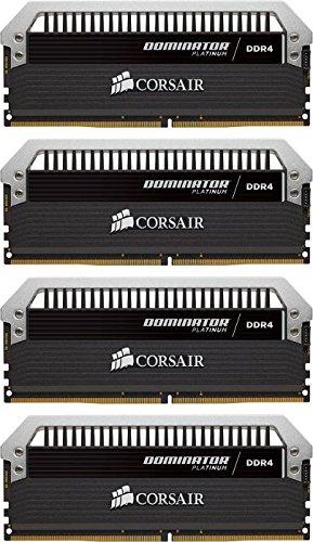 Corsair Dominator Platinum 16GB (4x4GB) DDR4 DRAM 3200MHz (PC4 25600) C16 Memory Kit