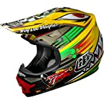 Troy Lee Designs P-51 Air MotoX/Off-Road/Dirt Bike Motorcycle Helmet - Yellow / Medium