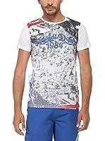 Rivaldi Camiseta Manga Corta Mentalsyoptic (Blanco / Gris)
