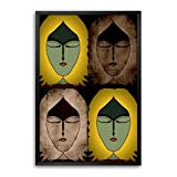 Bluegape Ranadeep Four Seasons Of Me Framed Poster, Yellow