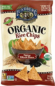 Lundberg Organic Spicy Black Bean And Rice Chips 6-ounce Bags Pack Of 6 from Lundberg Family Farms