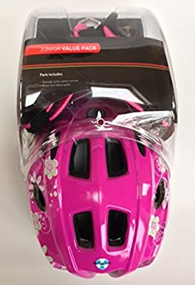 Raleigh Bike / Cycle Helmet Knee & Elbow Pad Set Girls Pink Mystery 52-56cm from Raleigh