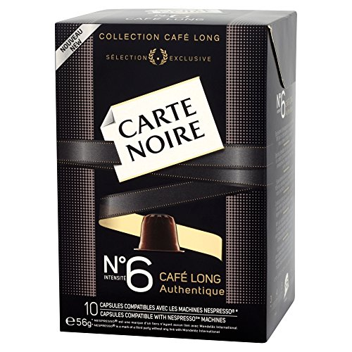 Carte Noire No.6 Lungo Nespresso Compatible Coffee Capsules 56 g (Pack of 4)
