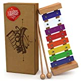 Wooden Xylophone for Kids: Best for Your Little Musician - Create Magical Sounds with Little Hands; A Percussion Instrument with Multi-Colored Metal Keys and Two Child-Safe Wooden Mallets