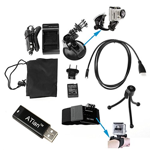 Dazzne 7 in 1 Gopro accessory kit charger  car