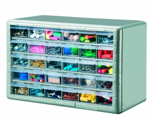 Best Cheap Stack On DSMG 30 30 Drawer Storage Parts Storage Organizer  Cabinet, Metallic Green Shop