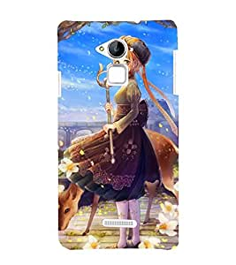 LITTLE ANIMATED PRINCESS WITH THE DEAR 3D Hard Polycarbonate Designer Back Case Cover for Coolpad Note 3