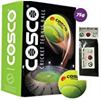 Cosco 12001 Light Cricket Tennis Balls (Pack Of 6) AND FREE SPORTSHOUSE WRIST BAND