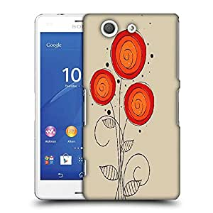 Snoogg abstract floral background Designer Protective Back Case Cover For SONY XPERIA Z3 COMPACT