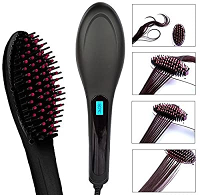 Efloral Brush Hair Straightener ,Detangling Hair Brush for Faster, Instant Magic Silky Straight Hair Styling,zero Damage, Anion Hair Care, Anti Scald, Massage Straightening Irons by Efloral
