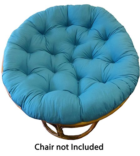 Cotton craft papasan teal overstuffed chair cushion for Large papasan chair