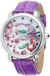 Ed Hardy Women's GN-PU Garden Purple Watch