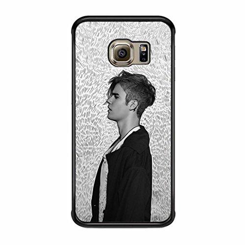 Justin Beiber Samsung Galaxy S6 Edge Case (Black Plastic) (Justin Beiber Wig)