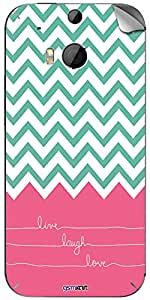GsmKart HOM8 Mobile Skin for HTC One M8 (Pink, One M8-468)