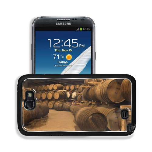 Wooden Wine Barrels Cellar Basement Samsung Galaxy Note 2 Snap Cover Premium Aluminium Design Back Plate Case Customized Made To Order Support Ready 6 Inch (152Mm) X 3 2/8 Inch (82Mm) X 4/8 Inch (13Mm) Msd Galaxy Note 2 Professional Metal Cases Touch Acce
