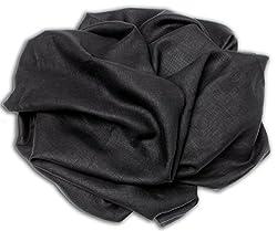 VARIANCE 100% PURE LINEN MEN'S SHIRT FABRIC(BLACK)