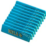 10 x RIZLA BLUE KING SIZE SLIM ULTRA THIN CIGARETTE GUMMED ROLLING PAPER BOOK BOOKLET
