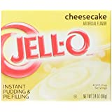 Jell-O Instant Pudding and Pie Filling, Cheesecake, 3.4-Ounce Boxes (Pack of 6)
