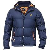 Mens Jacket Kangol Coat Padded Hooded Fleece Lined Bubble Puffer Heavy Winter