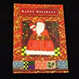 16 Handmade Christmas Greeting Cards with Envelopes, Happy Holidays Santa