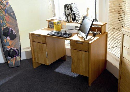 Firstloft-205-0300-Schreibtisch-Volo-mit-Aufsatz-Erle-teilmassiv-131-x-75-x-70-cm-gelt