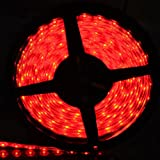 XKTtsueercrr(TM) Waterproof Red LED 3528 SMD 300LED 5M Flexible Light Strip 12V 2A 24W 60LED/M