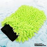 Auto Waschhandschuh Microfaser extraflauschig mit scharzem Bündchen - aus hochwertigem mikrofaser Chenillegarn