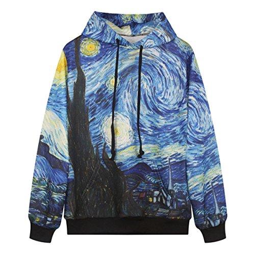 Sasairy-3D-imprim-Galaxy-Pull--Capuche-Sweat-Shirt--Manche-Longue-avec-Pochette-Unisexe-Sweat-Capuche-Multicolore-Casual-Tops-de-Copine-Vtement-de-Sport-Convient-aussi-pour-Femme-et-Homme