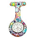 Boolavard® TM Nurses Fashion Coloured Patterned Silicon Rubber Fob Watches – Colourful Bubbles