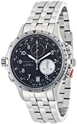 Hamilton Men's H77612133 Khaki ETO Black Chronograph Dial Watch