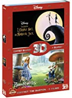 Coffret Blu-ray 3D - Alice au pays des merveilles + L'étrange Noël de Mr. Jack [Combo Blu-ray 3D + Blu-ray 2D]