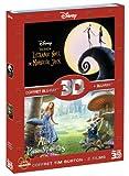 echange, troc Coffret Blu-ray 3D - Alice au pays des merveilles + L'étrange Noël de Mr. Jack [Combo Blu-ray 3D + Blu-ray 2D]