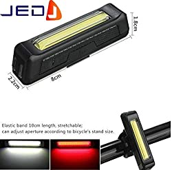 JED High Power Rechargable Bicycle Tail Light with Twin colours RED & BLUE with 6 different modes.
