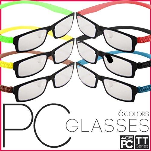 パソコン用 PCメガネ めがね 眼鏡 ブルーライト/青色光 低減 カット 405PC TTシリーズ 全6色