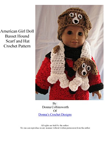American Girl Doll Basset Hound Scarf and Hat Crochet Pattern
