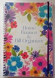 1 X Bill Organizer & Home Finance with Pockets (Bright Flowers)