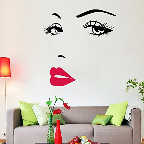 pegatina-de-pared-vinilo-adhesivo-decorativo-para-cuartos-dormitoriococinasala-de-estar-rostro-maril