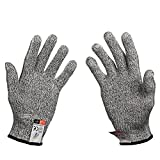 Pictek Cut Resistant Gloves, High Performance Level 5 Protection, Food Grade Cut Proof Gloves Knit Wrist Glove for Cutting and slicing, 1 pair (Large)