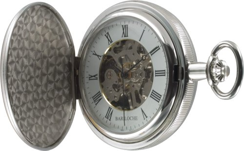Stainless Steel Pocket Watch by Bariloche 55508CP-W2